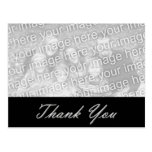 Black and Silver Thank you Photo Postcard