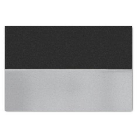Black and Silver Tissue Paper