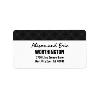 Black and Simple Address Label
