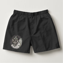 BLACK AND SIVER MASK 118 PATCH BOXERS