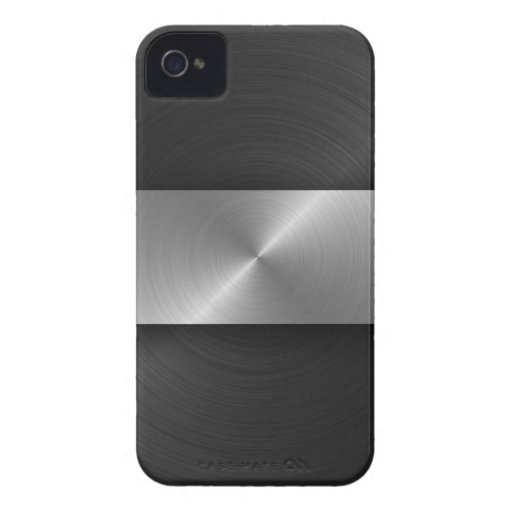 Black And Steel Case-Mate iPhone 4 Case