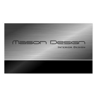 Black and Steel Modern Design Business Card