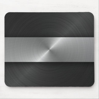 Black And Steel Mouse Pad