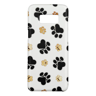 Black and tan canine dog paw print white Case-Mate samsung galaxy s8 case