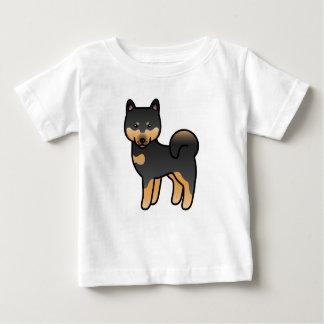 Black And Tan Cartoon Shiba Inu Baby T-Shirt