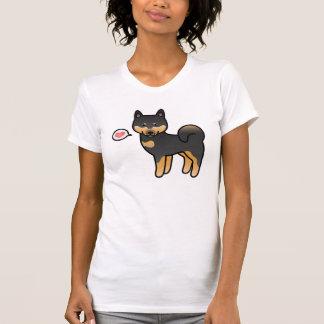 Black And Tan Cartoon Shiba Inu Tee Shirts