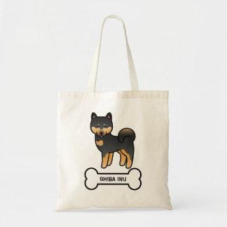 Black And Tan Cartoon Shiba Inu Tote Bag
