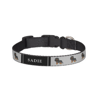 Black And Tan Cavalier Dogs & Pet's Own Name Pet Collar
