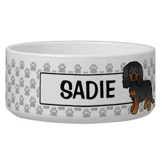 Black And Tan Cavalier King Charles Spaniel Dog Bowl