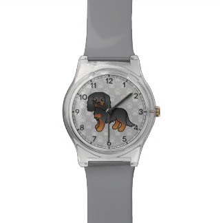Black And Tan Cavalier King Charles Spaniel Dog Wrist Watch