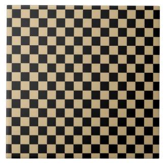 Black and Tan Checkered Tile