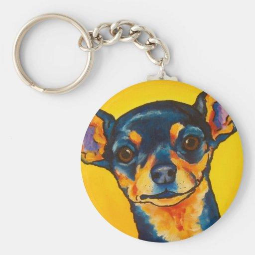 Black and Tan Chihuahua Key Chain