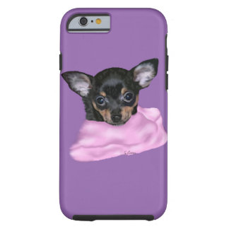 Black and Tan Chihuahua Puppy Tough iPhone 6 Case