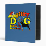 Black and Tan Coonhound Agility 3 Ring Binder