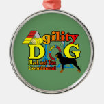 Black and Tan Coonhound Agility Christmas Tree Ornament