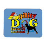 Black and Tan Coonhound Agility Rectangular Magnet