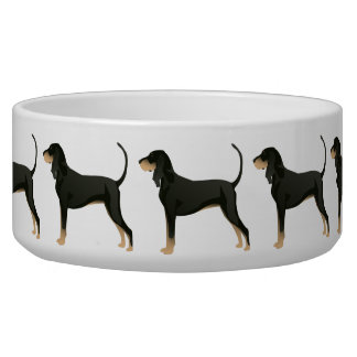 Black and Tan Coonhound Basic Breed Customizable Bowl