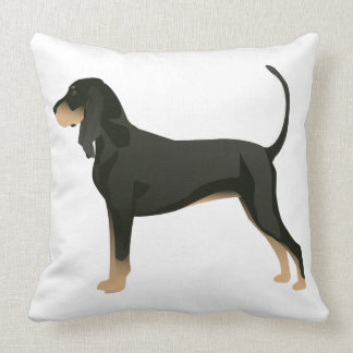 Black and Tan Coonhound Basic Breed Customizable Throw Pillow