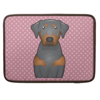 Black and Tan Coonhound Cartoon Paws MacBook Pro Sleeves