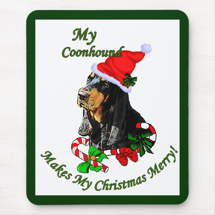 Black and Tan Coonhound Christmas Gifts Mouse Pad