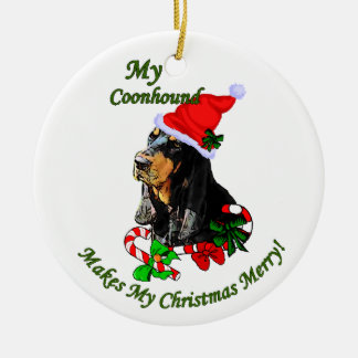 Black and Tan Coonhound Christmas Gifts Ornament