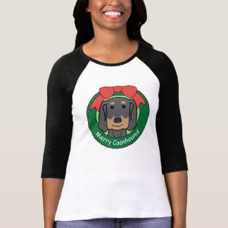 Black and Tan Coonhound Christmas T Shirts