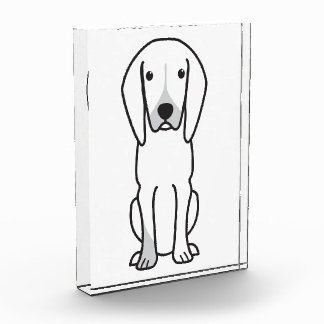 Black and Tan Coonhound Dog Cartoon Acrylic Award