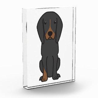 Black and Tan Coonhound Dog Cartoon Award