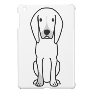 Black and Tan Coonhound Dog Cartoon Cover For The iPad Mini