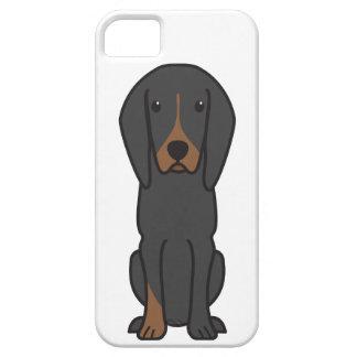Black and Tan Coonhound Dog Cartoon iPhone 5 Case