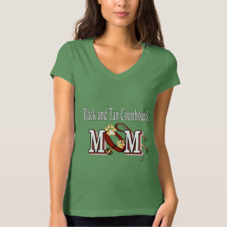 Black and Tan Coonhound Dog Mom T-Shirt