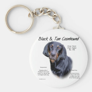 Black and Tan Coonhound History Design Key Chains