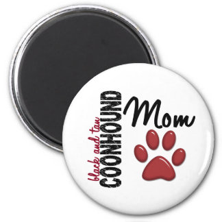 Black And Tan Coonhound Mom 2 2 Inch Round Magnet