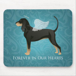 Black and Tan Coonhound Pet Dog Memorial Angel Mouse Pad