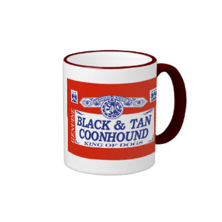 Black And Tan Coonhound Ringer Coffee Mug