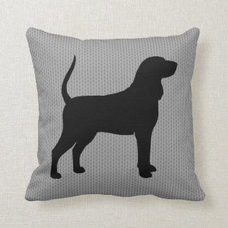 Black and Tan Coonhound Silhouette Pillows