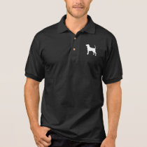 Black and Tan Coonhound Silhouette Polo Shirt