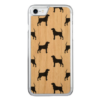 Black and Tan Coonhound Silhouettes Pattern Carved iPhone 7 Case