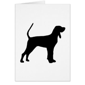 black and tan coonhound silo black card