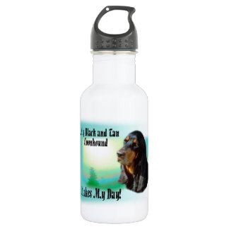 Black and Tan Coonhound Stainless Steel Water Bottle