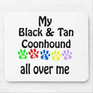 Black and Tan Coonhound Walks Design Mouse Pad