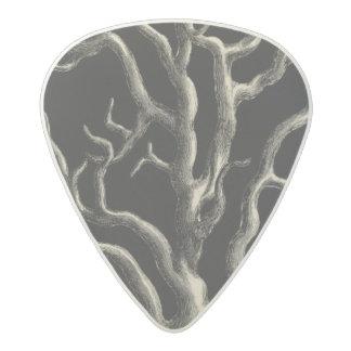 Black and Tan Coral Acetal Guitar Pick