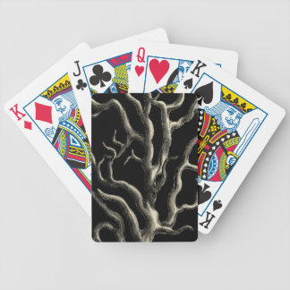 Black and Tan Coral Bicycle Playing Cards