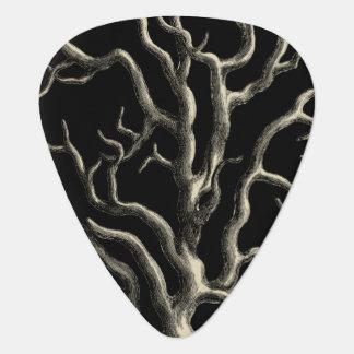 Black and Tan Coral Guitar Pick