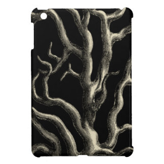 Black and Tan Coral iPad Mini Covers