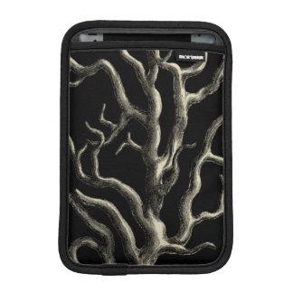 Black and Tan Coral iPad Mini Sleeve
