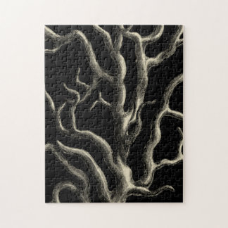 Black and Tan Coral Jigsaw Puzzle