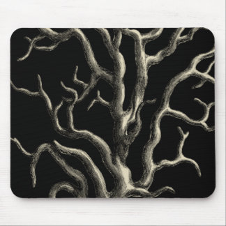 Black and Tan Coral Mouse Pad