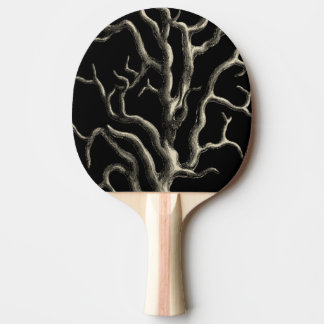 Black and Tan Coral Ping-Pong Paddle