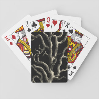 Black and Tan Coral Playing Cards